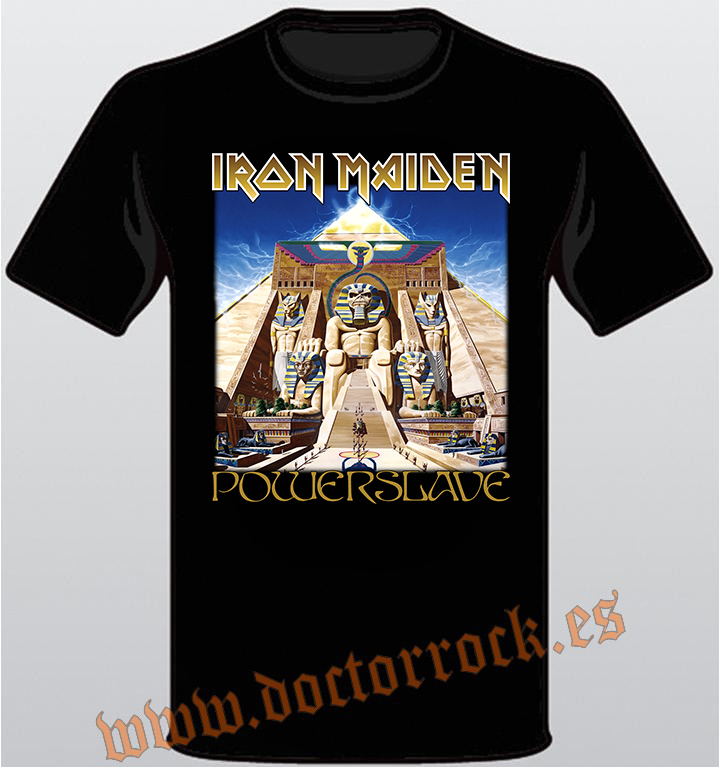 faf4be5cb27c8 Camiseta Iron Maiden Powerslave (Album) - DOCTOR ROCK