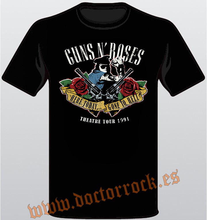 Guns N' Roses - Here Today Gone To Hell - Oficial Camiseta para Hombre NGRvHG18