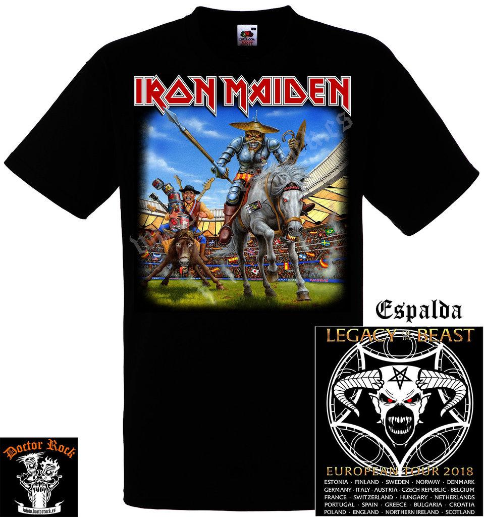 ef6602c95b7b9 Camiseta Iron Maiden Spain 2018 - DOCTOR ROCK