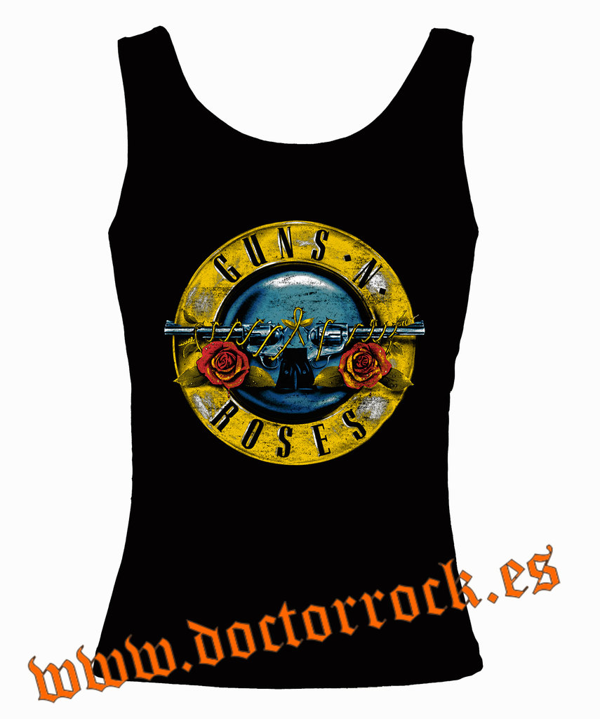 0526ca473ed Camiseta Guns And Roses Bullet Vintage Tirantes - DOCTOR ROCK