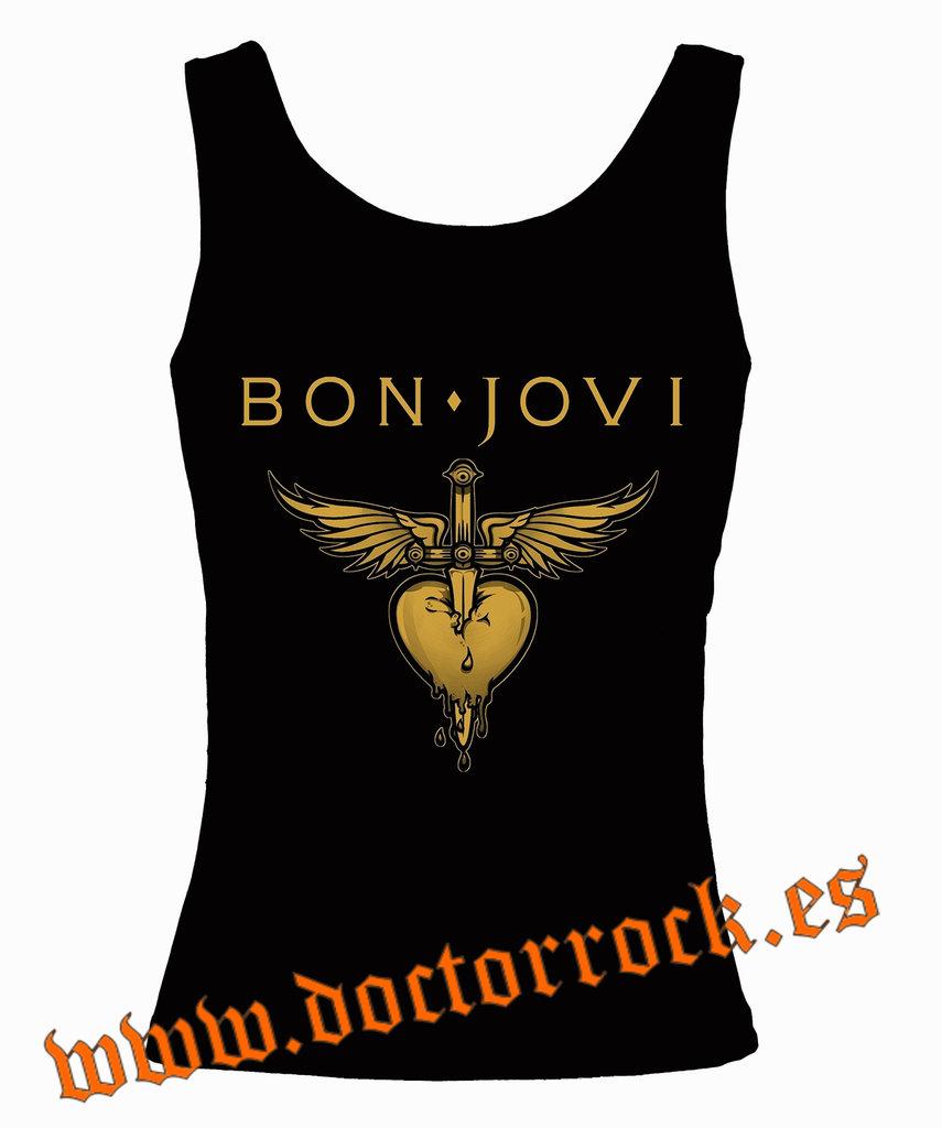 d4e09b26d Camiseta Bon Jovi Tirantes - DOCTOR ROCK
