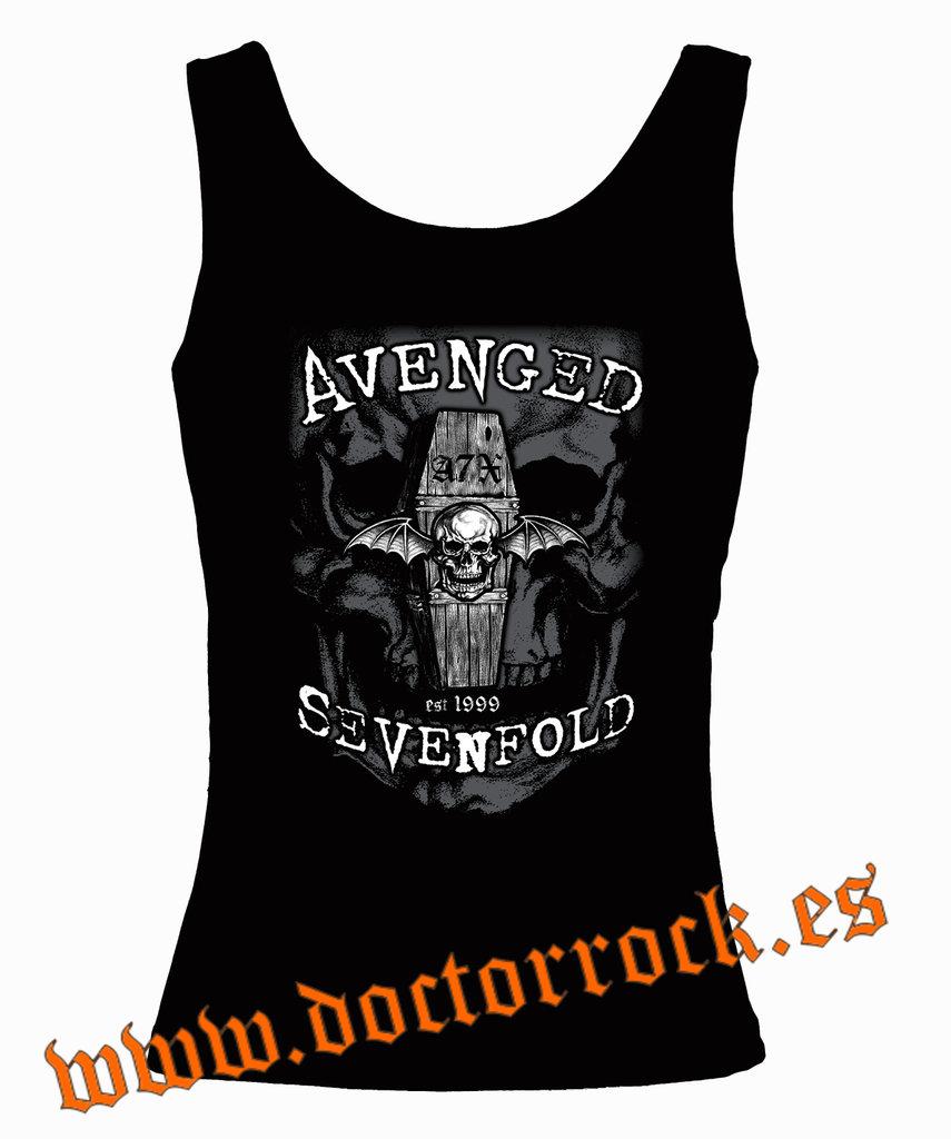 Camiseta Camiseta Sevenfold Sevenfold Avenged Tirantes Avenged Overshadow dhsrCtQx