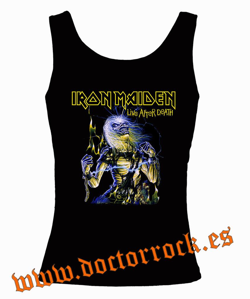 After Camiseta Tirantes Live Maiden Iron Death FnnqCZx