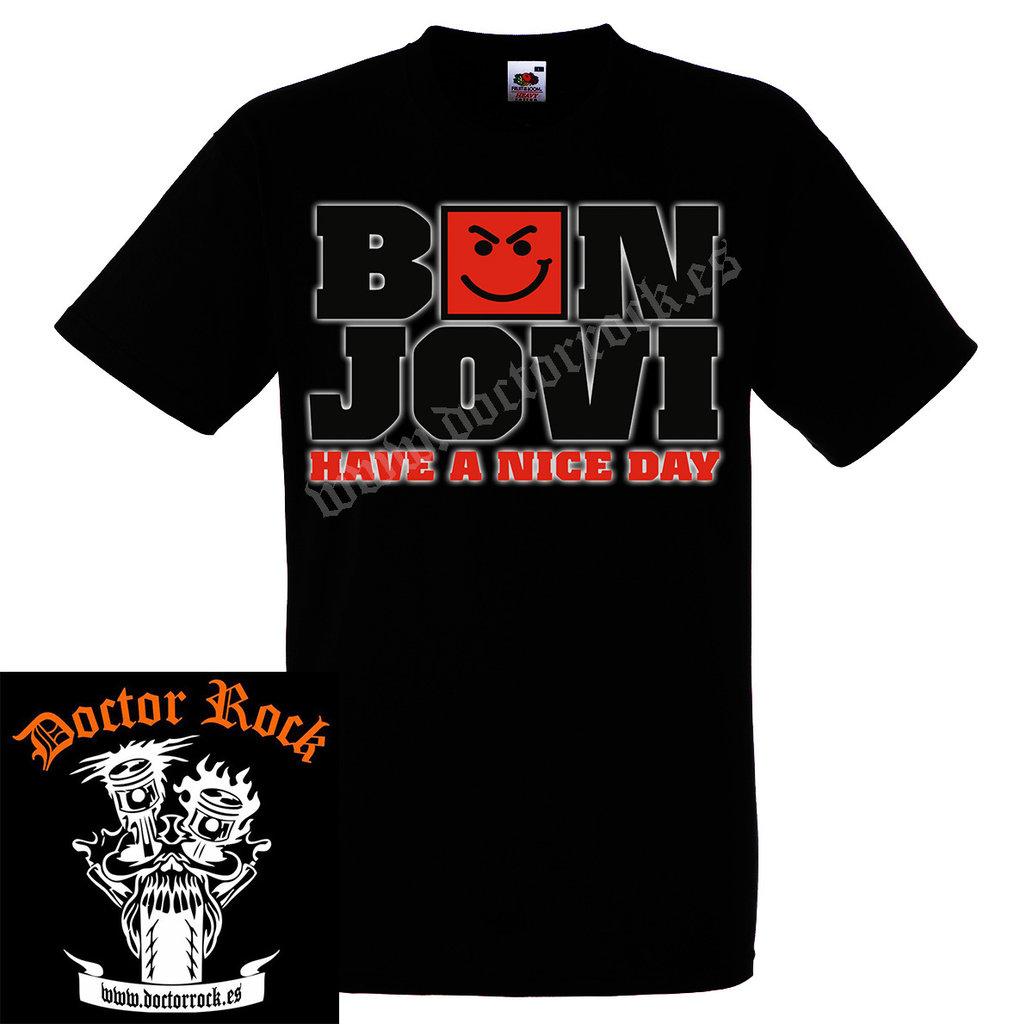 2d29ab7d1 Camiseta Bon Jovi Have A Nice Day - DOCTOR ROCK