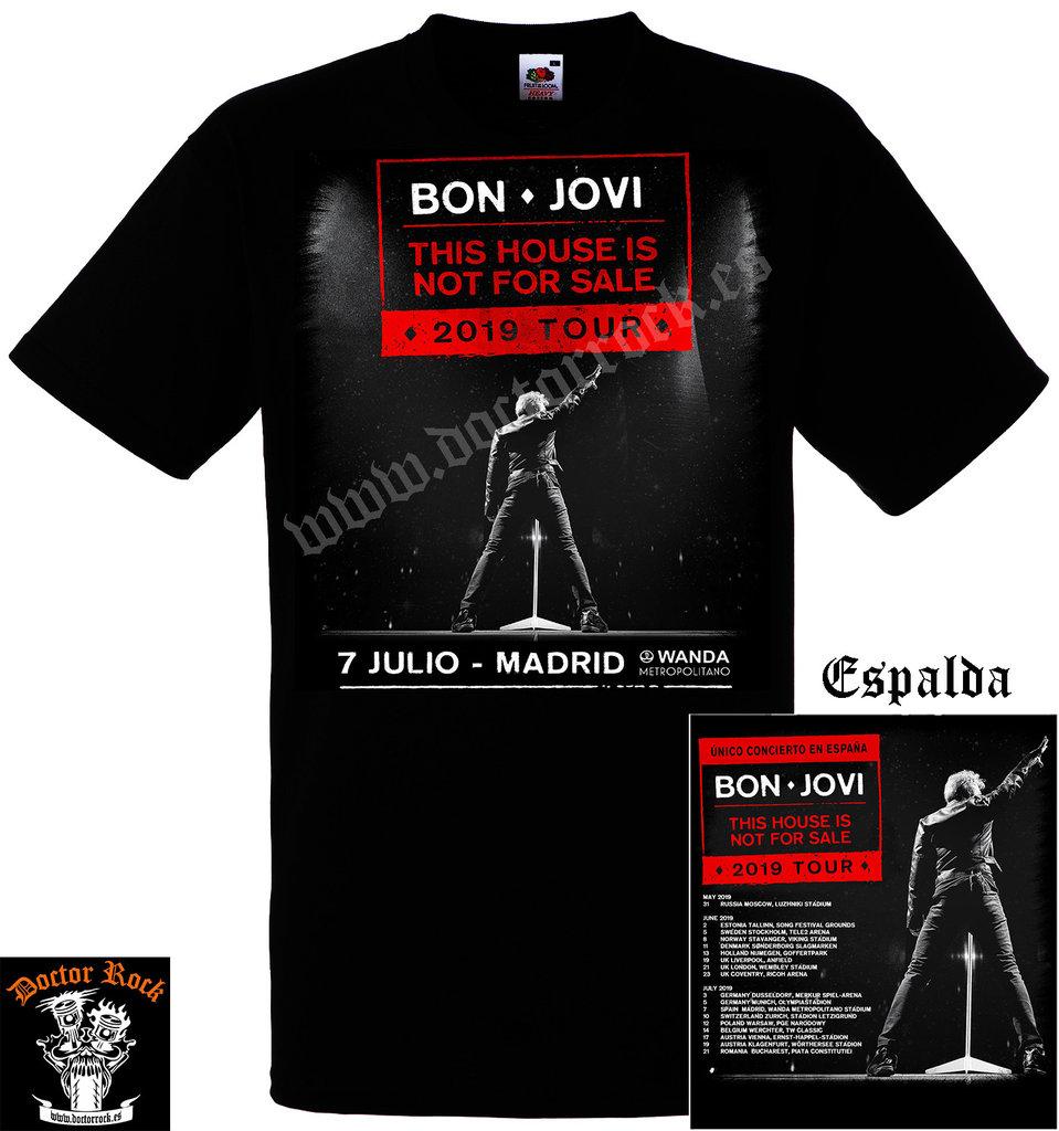 728f582d88d33 Camiseta Bon Jovi 2019 Madrid - DOCTOR ROCK