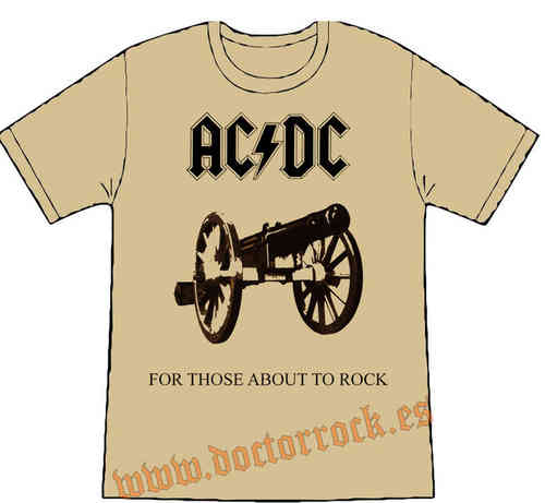 Camiseta AC/DC For Those... (crema)