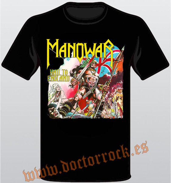 a44e41429 Camiseta Manowar Hail to England - DOCTOR ROCK