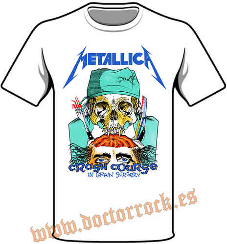 Camiseta Metallica Crash Course In Brain Surgery