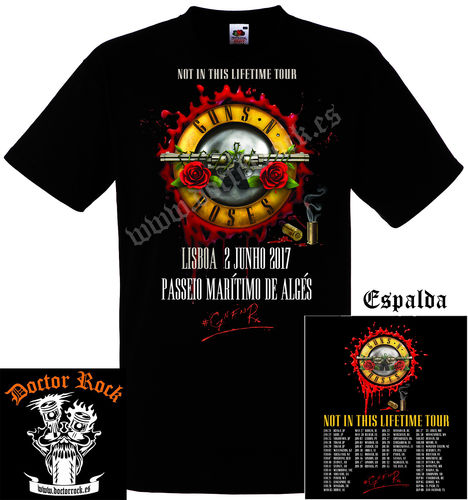 Camiseta Guns And Roses Lisboa 2017