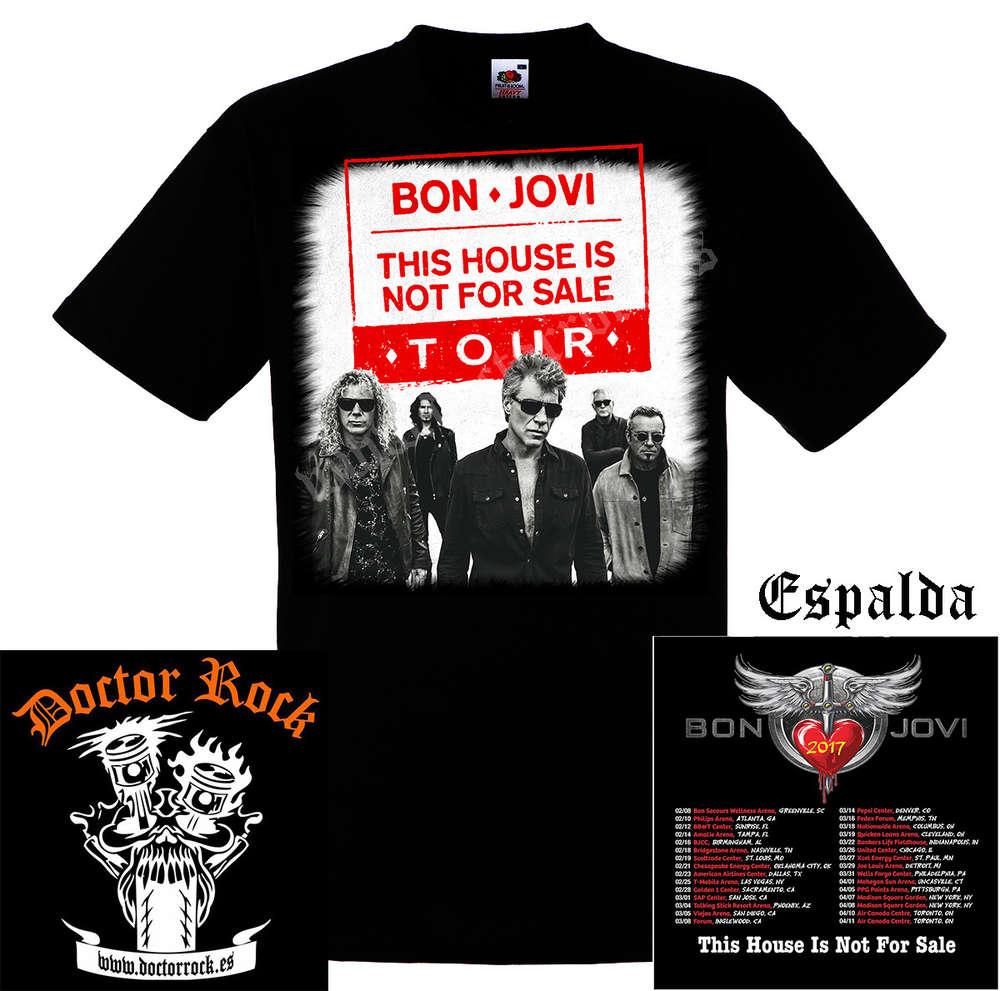 26a8d62db Camiseta Bon Jovi 2017 Tour - DOCTOR ROCK