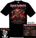 Camiseta Iron Maiden 14 Julio 2018 Madrid
